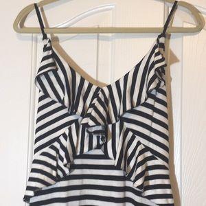 Max Studio striped maxi long dress NWT XL